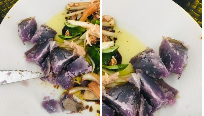 Papas púrpuras arrugadas con ensalada | Locas de la vida, Blog de recetas de cocina para principiantes, recetas fáciles y rápidas de preparar