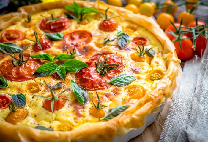 Quiche de queso y tomates cherry | Locas de la vida, recetas fáciles y rápidas